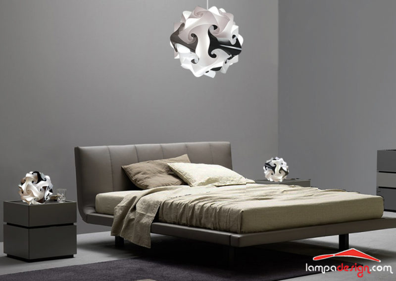 Lampadario luminoso per camera da letto Pescara | abat jour design ...